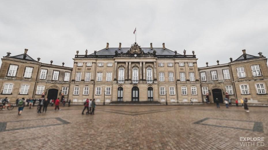 The Amalienborg Palace, home of the Danish Royal Family