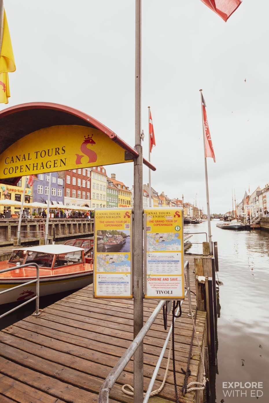 Canal tours in Copenhagen from Nyhavn Harbour