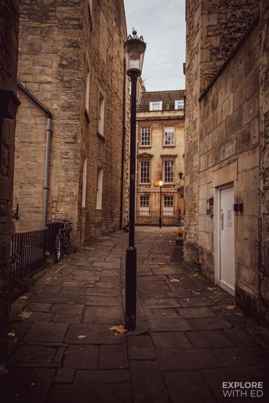 Side street in Bath, England