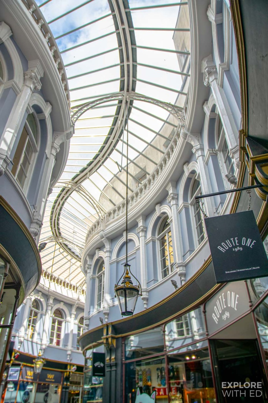 The architecture of Cardiff's beautiful Arcades