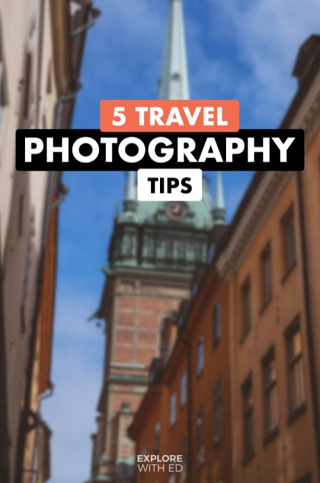 Travel photography tips, TikTok format tips