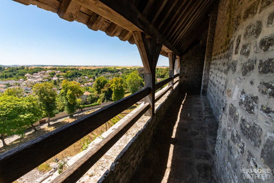 View from the Battlemented parapets in the Caesar Tower