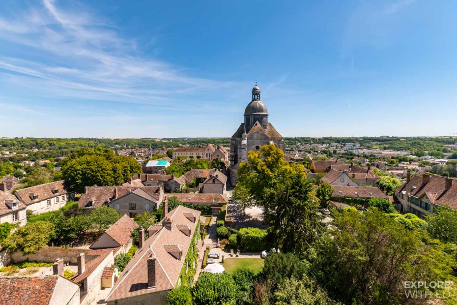 View of Provins and the Church
