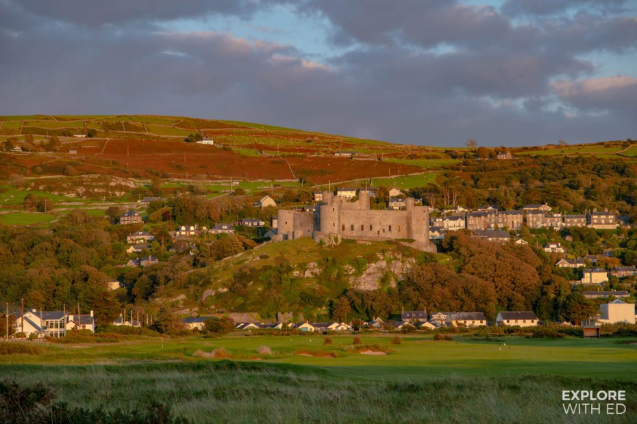 Harlech Castle and Town