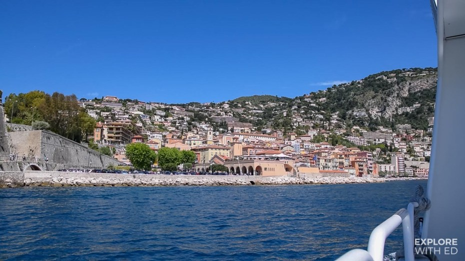 Tender boat from cruise ship to Villefranche-sur-Mer