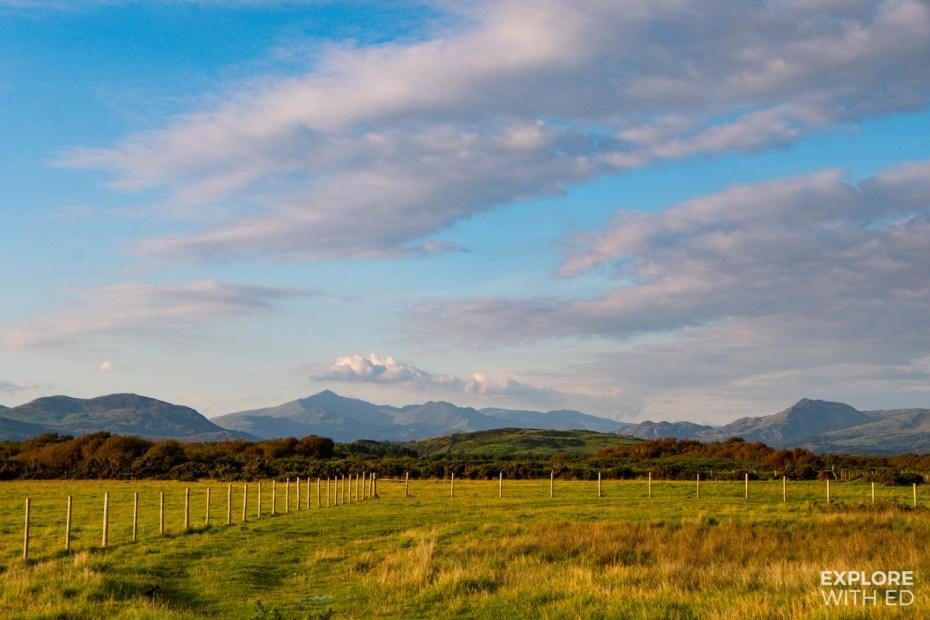 Snowdonia Mountain Range viewed from Harlech