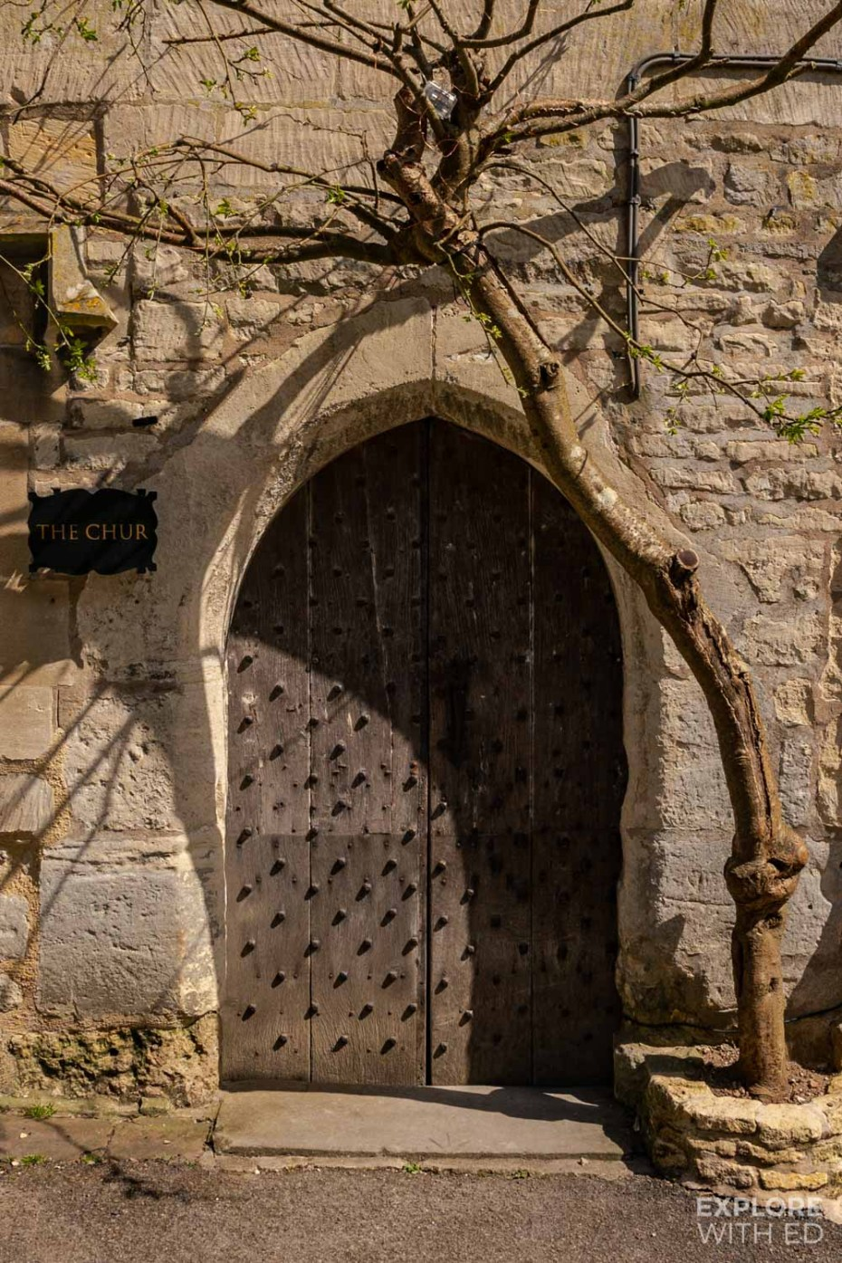 The Chur, Old door in Painswick