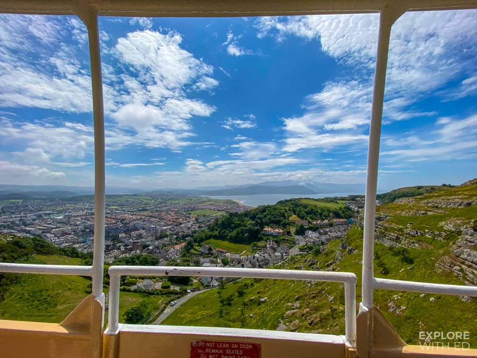 Llandudno Cable Car view over Happy Valley and town