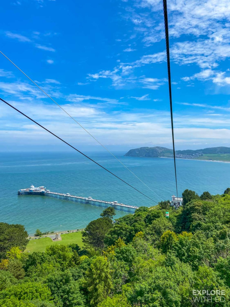 Llandudno Pier, viewed from cable car