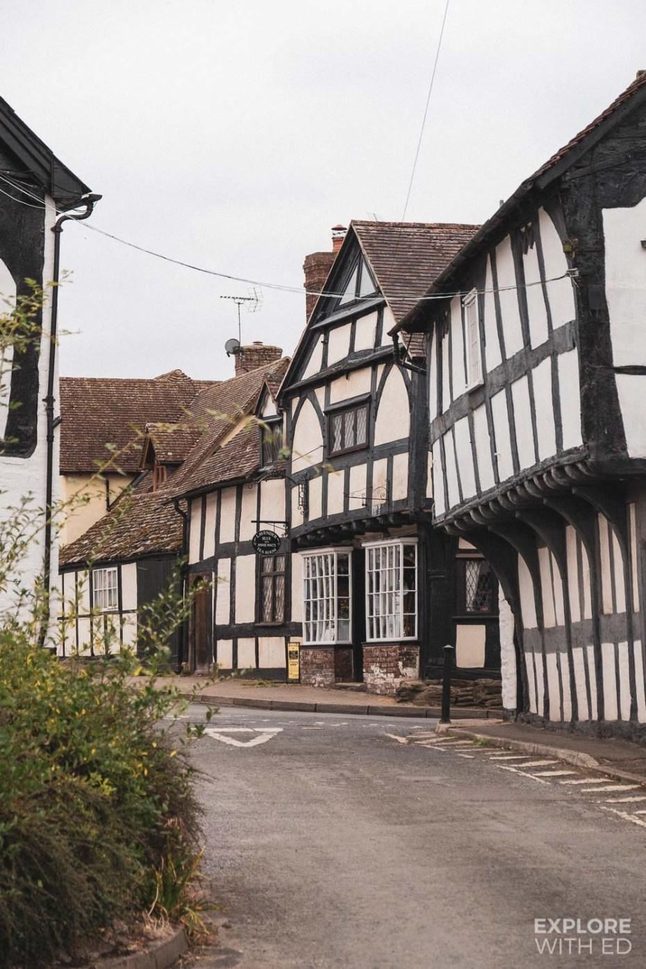 Weobley black and white village