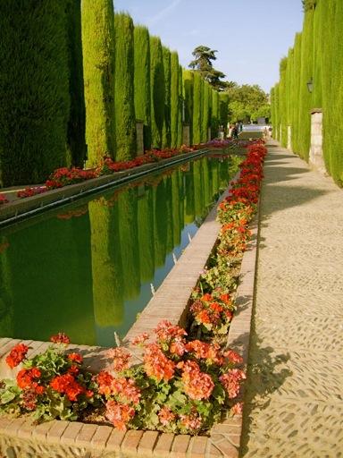 Gardens of Cordoba Alcazar castle