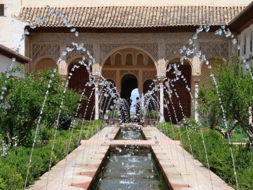 Water features, Palacio Nazaries