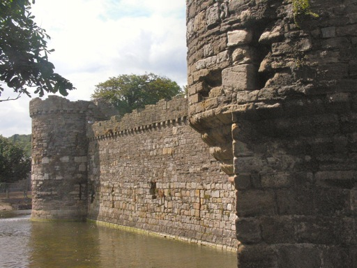 Beaumaris Castle View of Moat