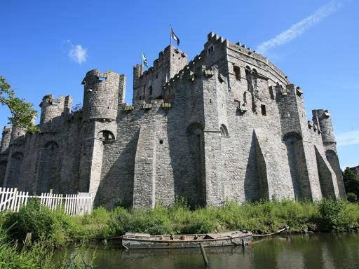 Belgium Castles - Gravensteen Moat