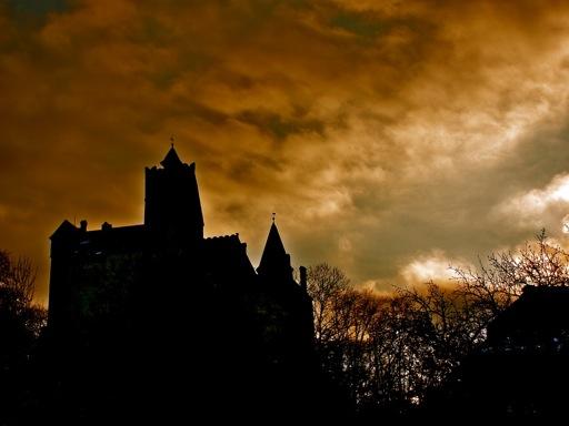 Spooky view of Bran Castle
