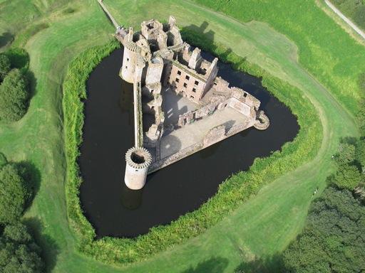 Caerlaverock Castle aerial view