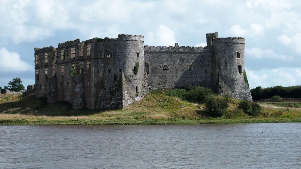 Carew Castle across the millpond