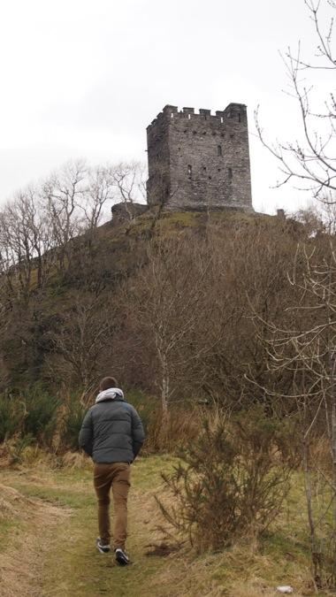 Walking up to Dolwyddelan