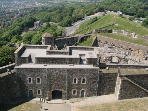 View from Dover Castle England Great Tower