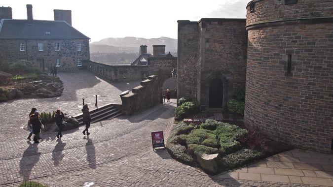 Misty Morning within Edinburgh Castle