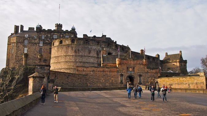 Panorama of Entrance to Edinburgh Castle