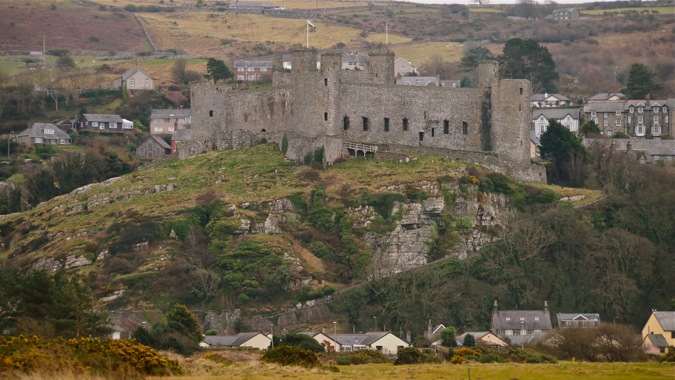 Harlech Castle panorama