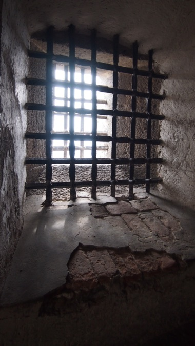 Window grate within the castle