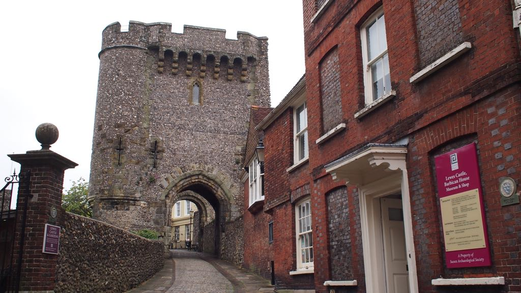 Entrance of Lewes Castle