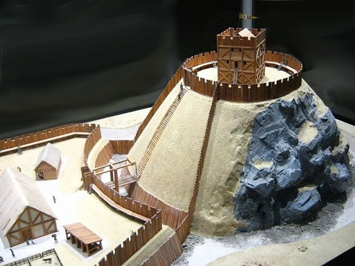 Model of a Motte and Bailey Castle