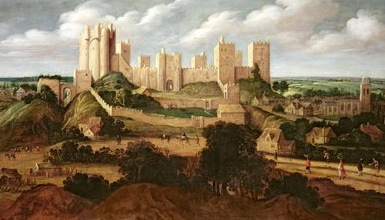 Pontefract Castle primary painting