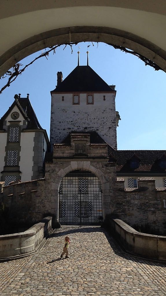 Looking up at the mighty Keep of Oberhofen, with its 6ft thick walls. Credit: Vasile Cotovanu, CC-BY-2.0