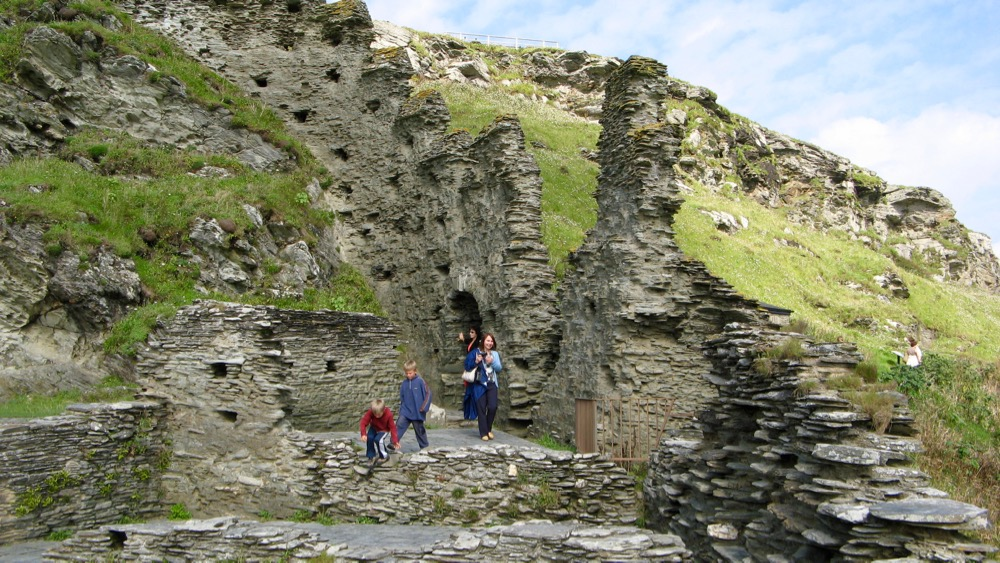 Exploring the ruins of Tintagel Castle