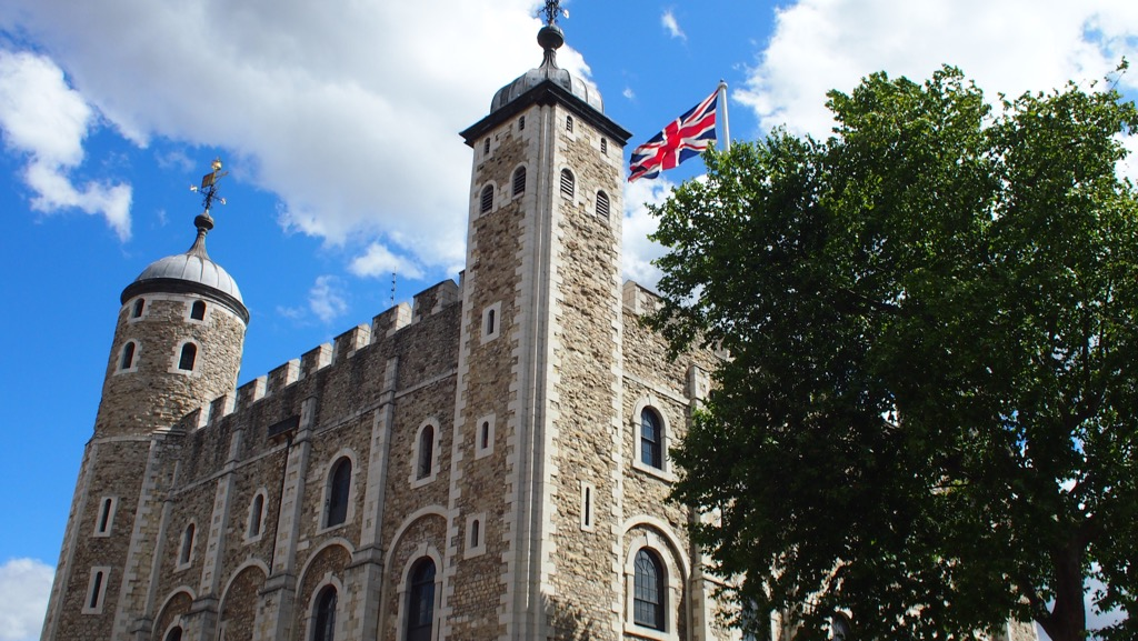 Union Jack above the White Tower
