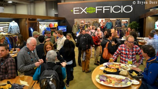 ExOfficio always throws some good shindigs. How can you complain about flown in fresh Alaskan Salmon?