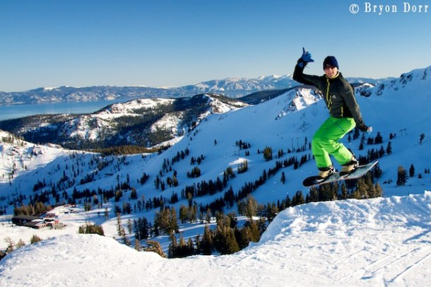 Matt Gibson drops into the goods on an amazing North Lake Tahoe bluebird day.