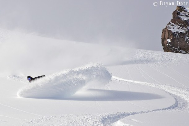 Did I mention that Jeremy knows how to shred on a snowboard! Fresh pow waves of goodness:)