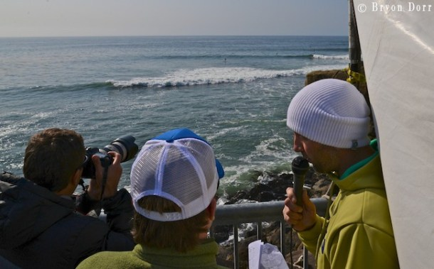 Ken Hoeve announcing and interviewing from Joe Carberry SUP Mag.