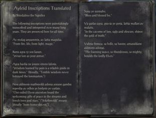 The Books of the Elder Scrolls Online - Ayleid Inscriptions Translated