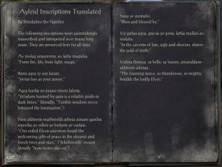The Books of the Elder Scrolls Online - Ayleid Inscriptions Translated