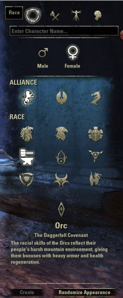 Exploring the Elder Scrolls Online - Race Options