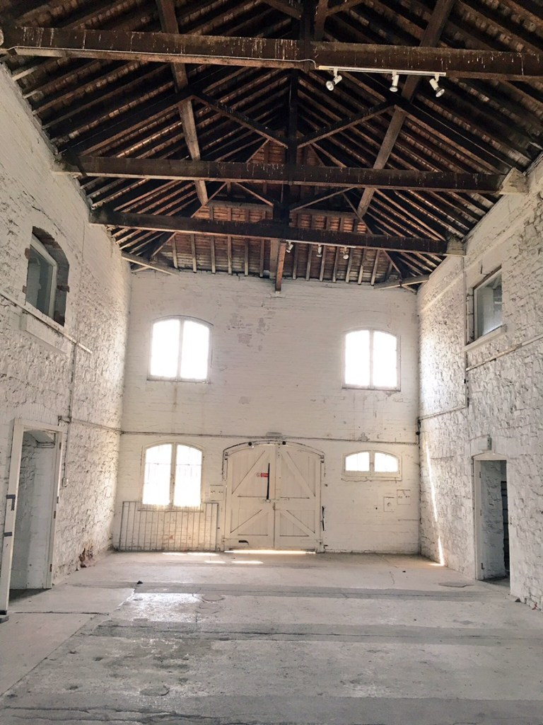 The Boatshed Theatre inside by Stephanie Darkes, Exploring Exeter, 2017