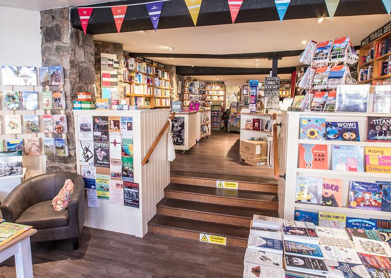 crediton community bookshop in crediton devon, exploring exeter 2020
