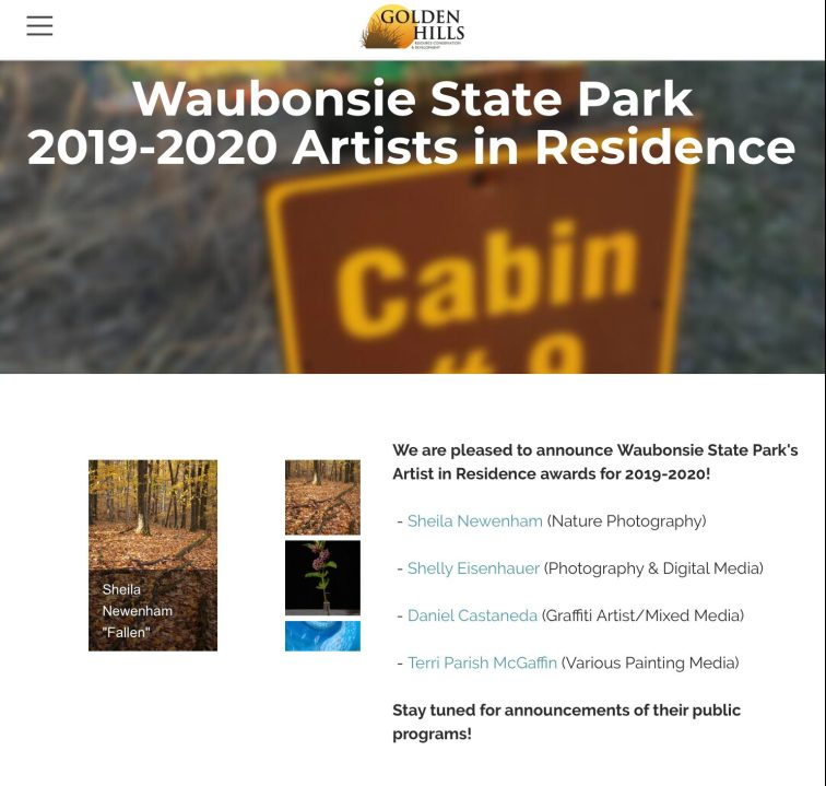 Announcement of Artist in residence