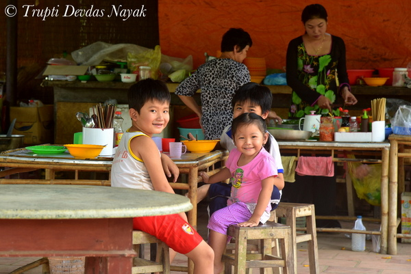Smiling Children in Mekong Delta