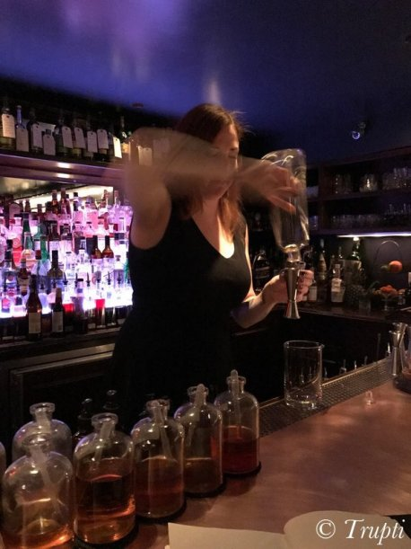 Christiana working it at the Office speakeasy in Chicago