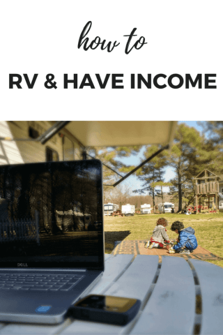 You can RV full time and still work to finance your travels! Find out the many ways to RV Full time and work!! #happycampers #rvcamping