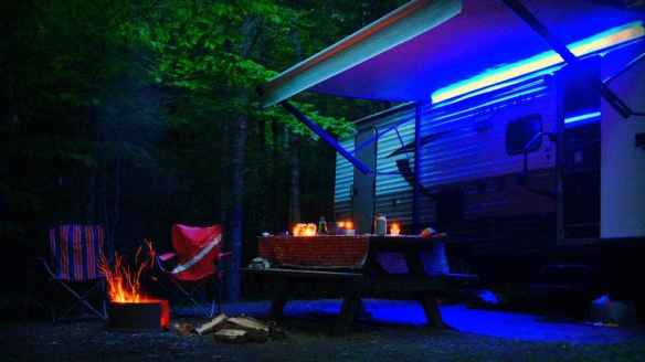 RV camping in Maine; boondocking; dry camping; Aroostook state park; boondocking Maine