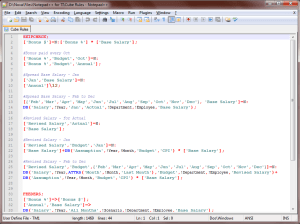 Cube Rules - Notepad++