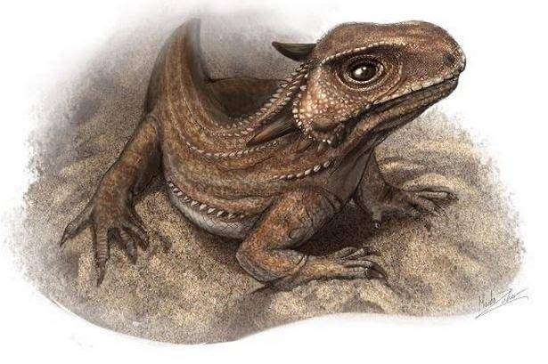 Kapes, the parareptile that predates dinosaurs in Devon