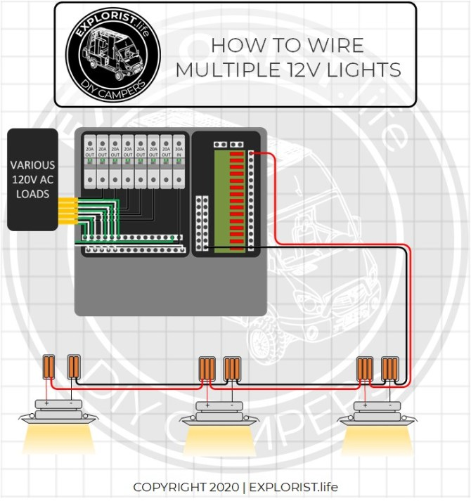 rv wiring diagram lights  6 pin trailer plug wiring diagram